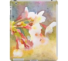 White Cherry Blossoms Digital Watercolor Painting 1 iPad Case/Skin