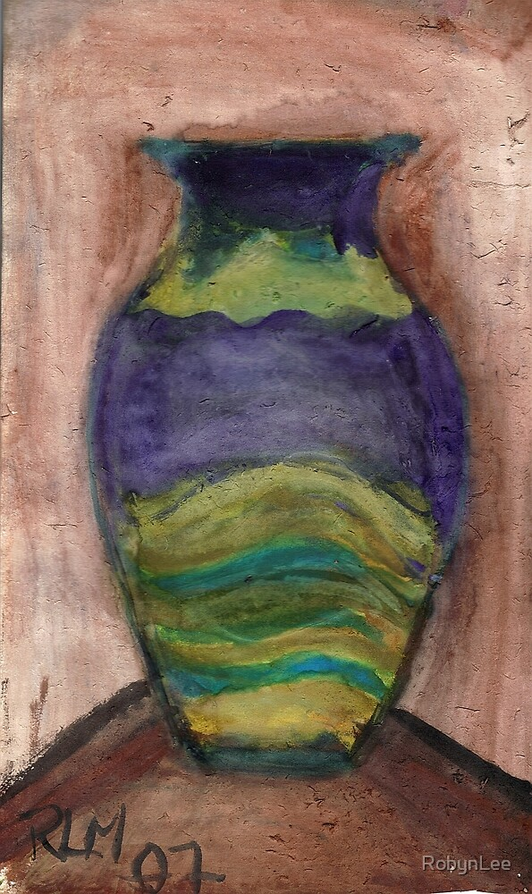 Hand-Painted Vase by RobynLee