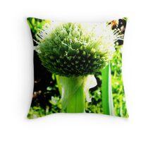 spring onion Throw Pillow