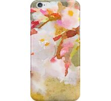 White Cherry Blossoms Digital Watercolor Painting 4 iPhone Case/Skin