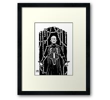 PIN HEAD BLACK AND WHITE Framed Print