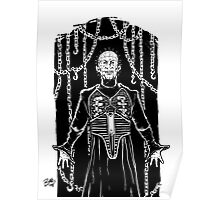 PIN HEAD BLACK AND WHITE Poster