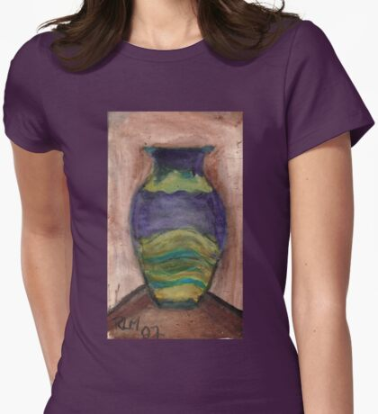 Hand-Painted Vase Womens Fitted T-Shirt