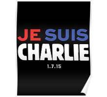 Je Suis Charlie / Flag Colors Poster