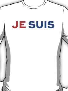 Je Suis Charlie / Flag Colors T-Shirt