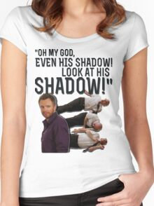 LOOK AT HIS SHADOW! Women's Fitted Scoop T-Shirt