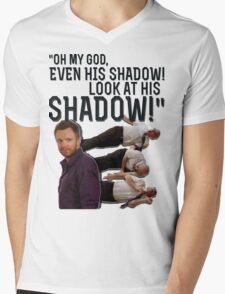 LOOK AT HIS SHADOW! Mens V-Neck T-Shirt