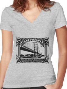 SF Classic Women's Fitted V-Neck T-Shirt