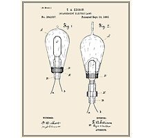 Thomas Edison Light Bulb Patent - Colour Photographic Print