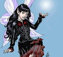 Gothic Fairy with Magic in her hand by Al Rio by alrioart