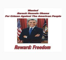 Barack Obama Wanted Poster Design One Piece - Short Sleeve