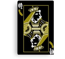 Queen On Cali white Canvas Print