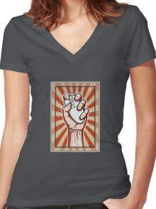 Online Activist Women's Fitted V-Neck T-Shirt