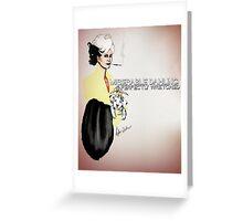 Cruella DeVil  Greeting Card