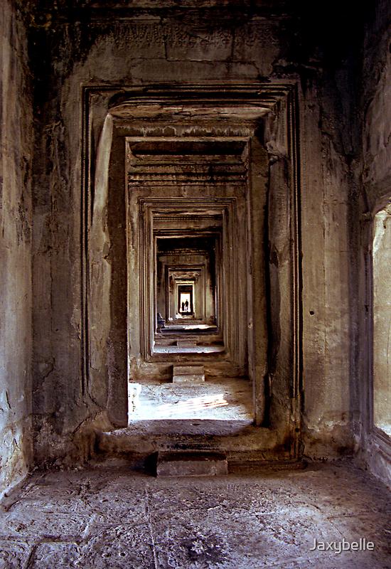 Passageway Angkor Wat  Cambodia by Jaxybelle