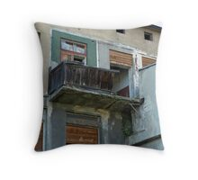 From past - balcony Throw Pillow