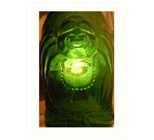 The Laughing Glass Buddha Art Print