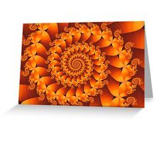 Fire Spiral Greeting Card