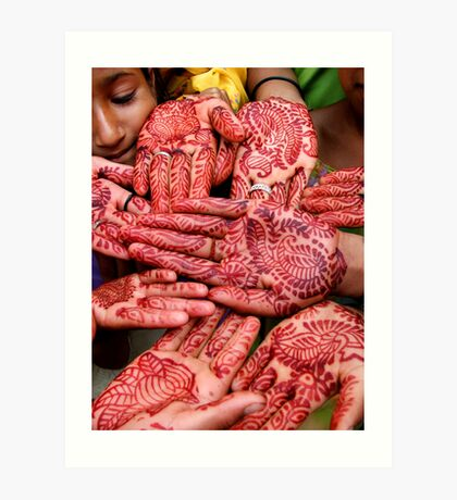 Henna Hands   (Limited Edition Print of 50) Art Print