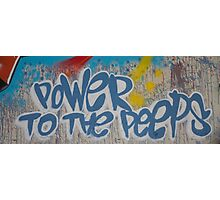 Power To the People Photographic Print