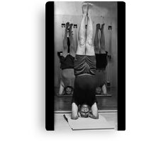 Five Minute Yoga Headstand   Canvas Print