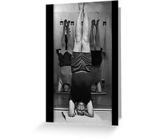 Five Minute Yoga Headstand   Greeting Card