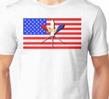 Flag and Fireworks Unisex T-Shirt