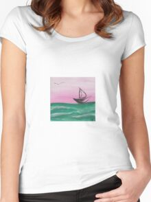 Setting Sail Women's Fitted Scoop T-Shirt
