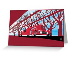 Ford Edsel vintage racer illustration Greeting Card