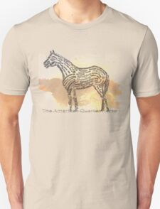 History of the American Quarter Horse in Typography Unisex T-Shirt