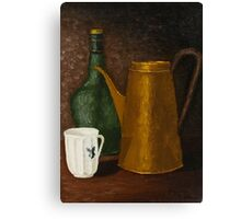 Still life with ancient teapot Canvas Print