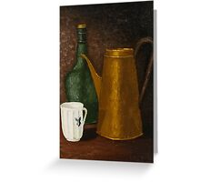 Still life with ancient teapot Greeting Card