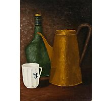 Still life with ancient teapot Photographic Print