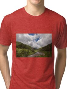 Green Valley in Mountains Tri-blend T-Shirt