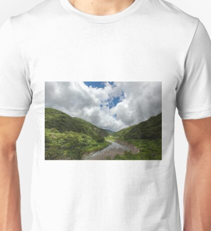 Green Valley in Mountains Unisex T-Shirt