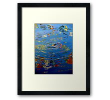 Fish amidst the flags    (Limited Edition Print of 50) Framed Print