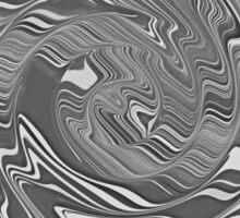 Gray with White Swirl Pattern Abstract Design Sticker