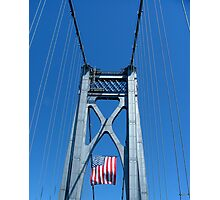 Memorial Day Bridge Photographic Print
