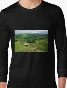 South from the Summit of Back Tor Long Sleeve T-Shirt