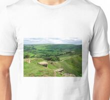 South from the Summit of Back Tor Unisex T-Shirt