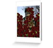 Romantic Turrets and Roses Greeting Card