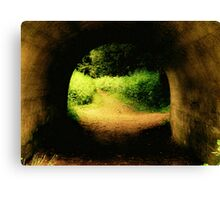 Tunnel To Enchanted Woods.. Canvas Print
