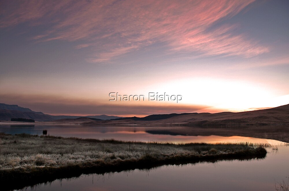Frosty Drakensberg sunrise by Sharon Bishop