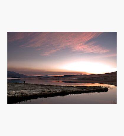 Frosty Drakensberg sunrise Photographic Print