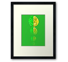 The Green and Yellow one Framed Print