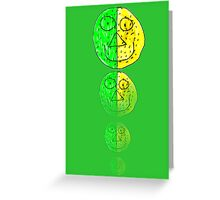 The Green and Yellow one Greeting Card
