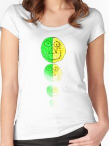 The Green and Yellow one Women's Fitted Scoop T-Shirt
