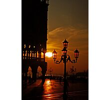 Dawn at the Doges palace Photographic Print