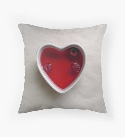 jello heart Throw Pillow
