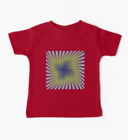 Colorful hypnotic swirling rays Baby Tee